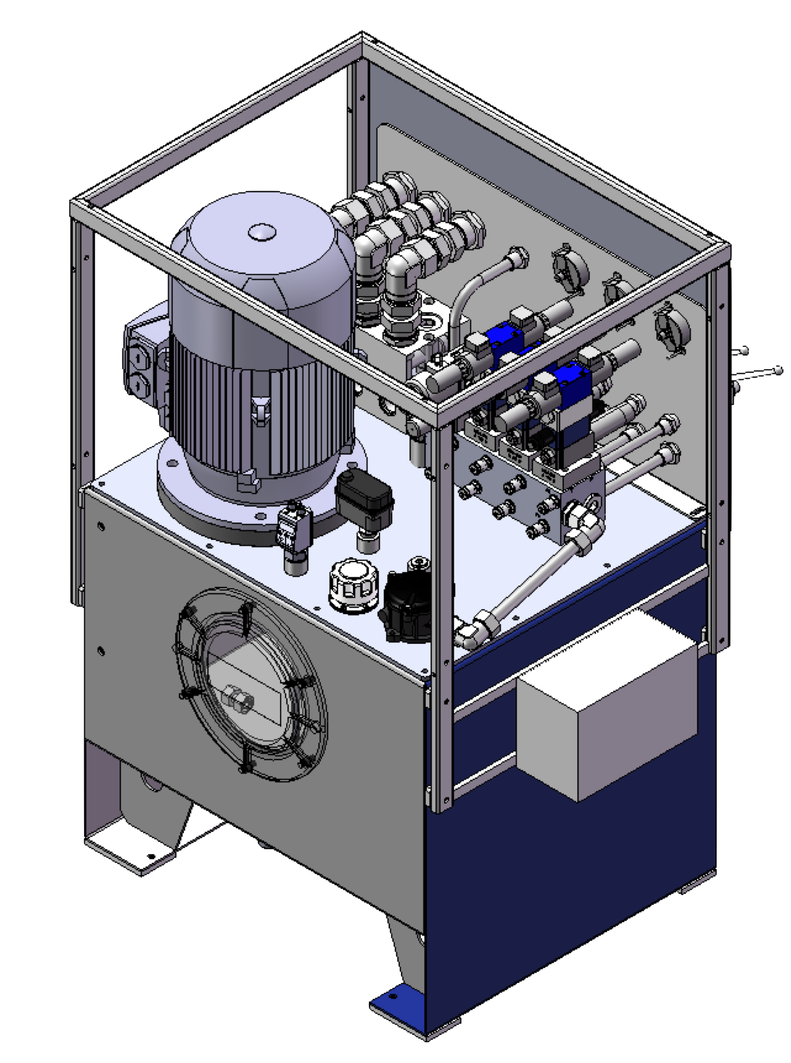 hydraulický agregát s akumulátory