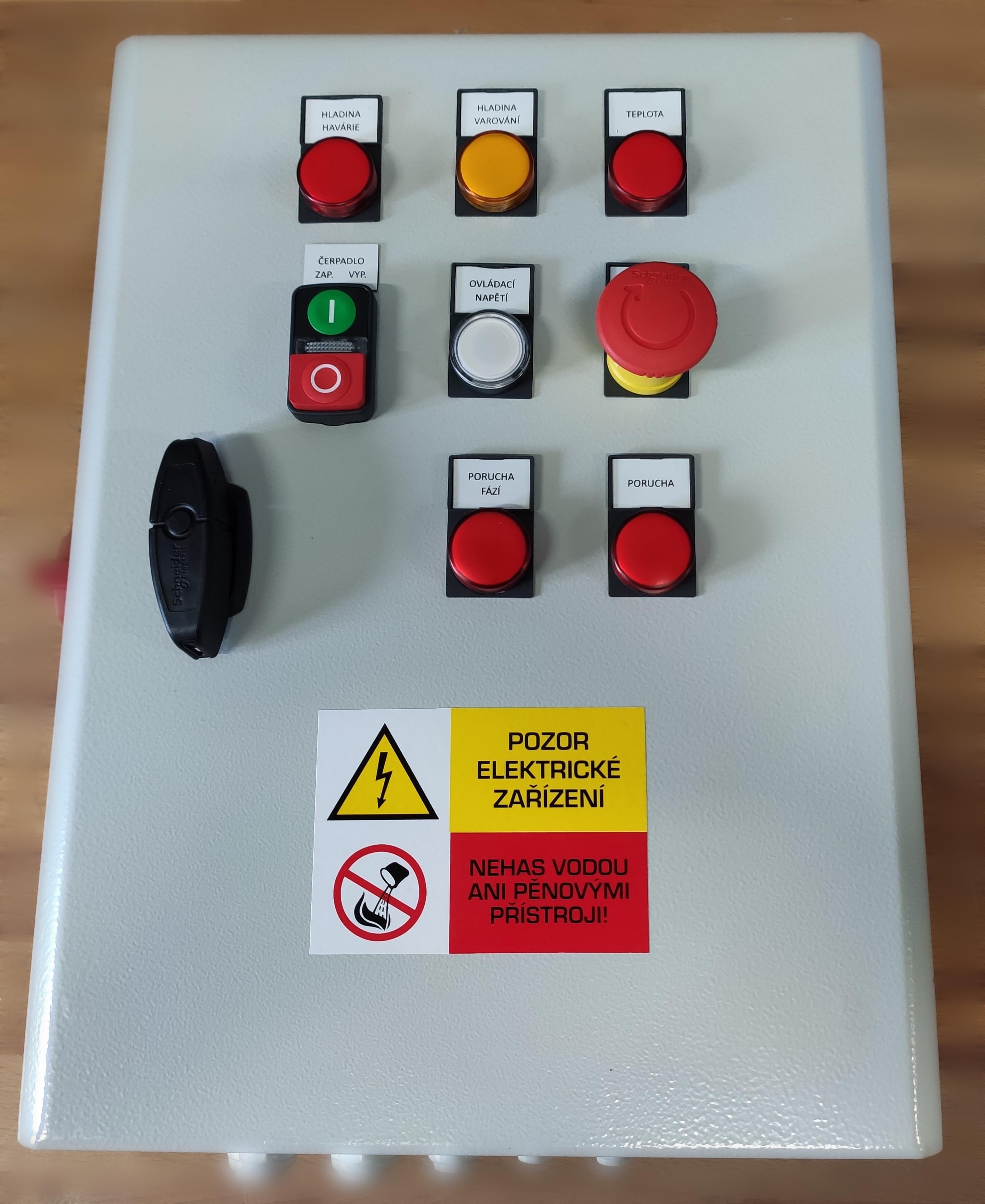 Elektro skříň agregátu