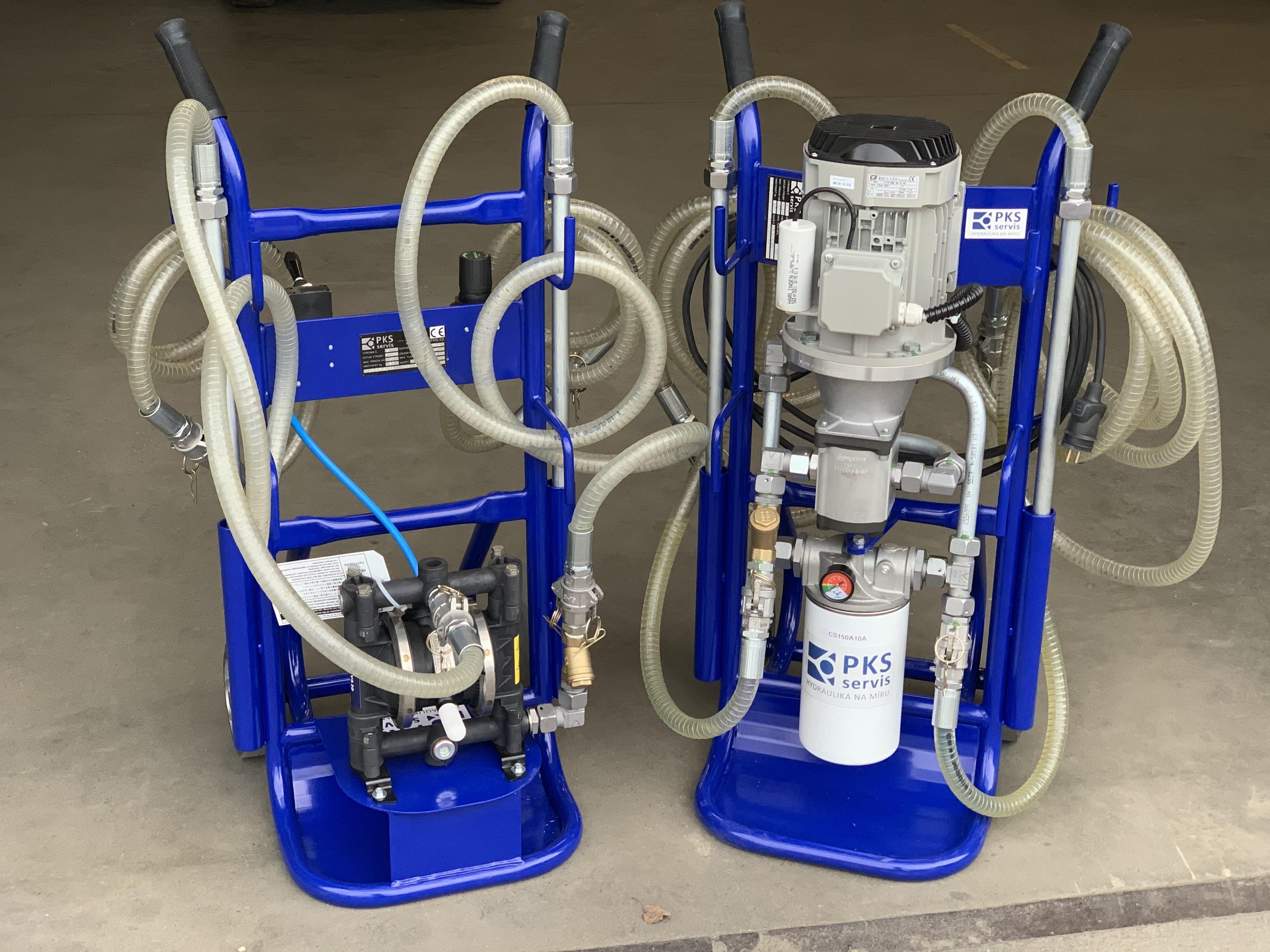 filtrační jednotka a čeprací jednotka