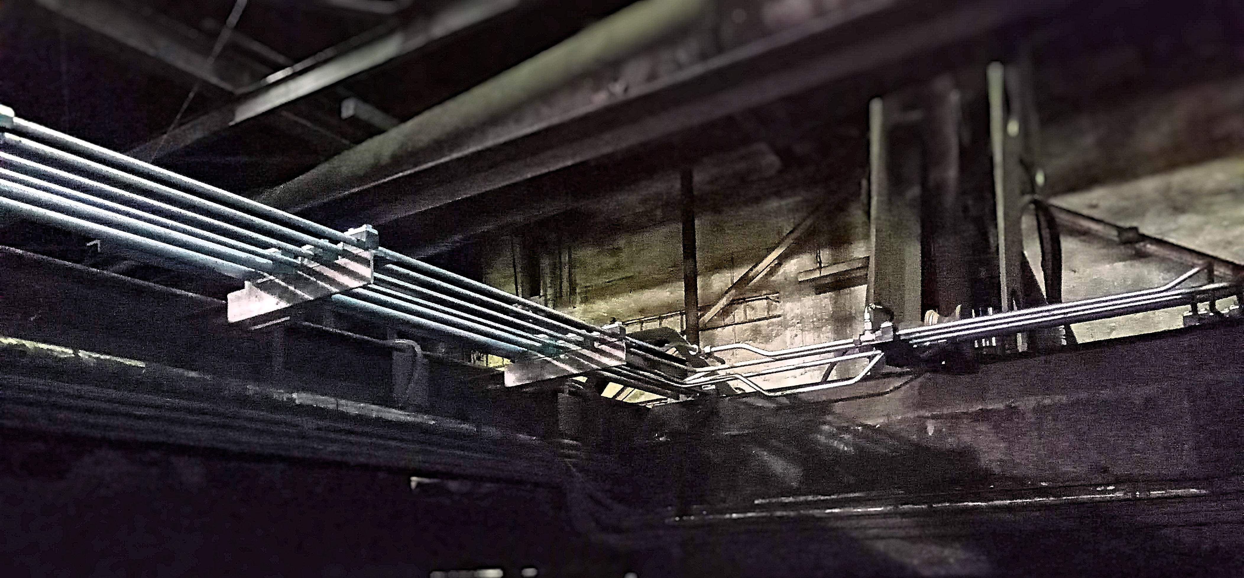tahání trubek potrubí